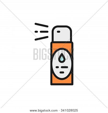 Vector air freshener, flavoring, aromatherapy flat color line icon. stock photo