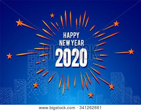 Happy New Year 2020, 2020 on White Background, Illustration, New Year 2020, Colorfull Numbers, New Year 2020 Rendering, Numeral 2020, New Year 2020 Creative Design Concept Image stock photo