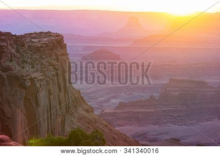 Sandstone formations in Utah, USA. Beautiful Unusual landscapes. stock photo