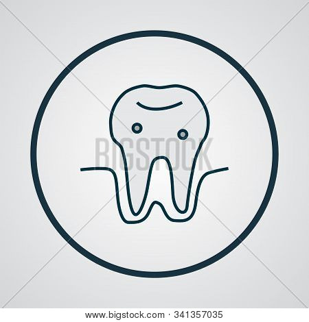 Parodontosis icon colored line symbol. Premium quality isolated gingivitis element in trendy style. stock photo