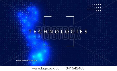 Artificial intelligence. Abstract background. Digital technology, deep learning and big data concept. Tech visual for connection template. Modern artificial intelligence backdrop. stock photo