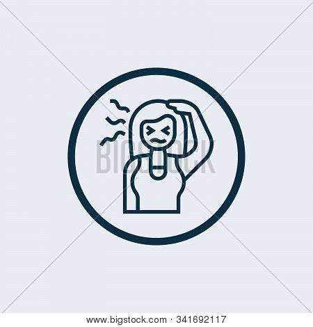 Sick icon isolated on white background. Sick icon simple sign. Sick icon trendy and modern symbol for graphic and web design. Sick icon flat vector illustration for logo, web, app, stock photo