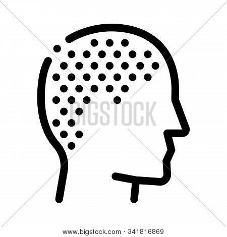 Trimmed Bald Man Icon Vector. Outline Trimmed Bald Man Sign. Isolated Contour Symbol Illustration stock photo