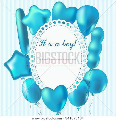 album, anniversary, announcement, arrival, art, baby, backdrop, background, balloon, balloons, banner, birth, birthday, blue, born, boy, card, celebrate, celebration, child, childhood, clip, congratulate, congratulation, cute, design, frame, gift, greetin stock photo