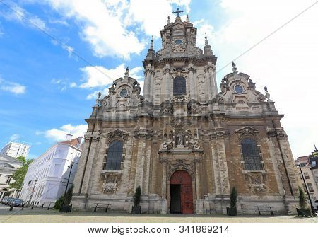 Church of St. Jean Baptiste au Beguinage in Brussels, Belgium stock photo