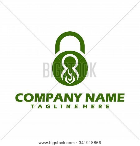 Lock and key icon isolated on white background. Lock and key icon simple sign. Lock and key icon trendy and modern symbol for graphic and web design. Lock and key icon flat vector illustration for logo, web, app, UI. stock photo