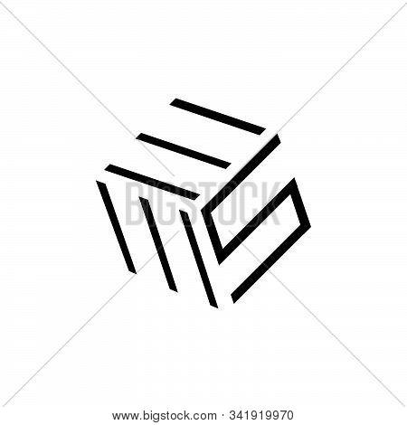 three 3 letter logo EMS combination modern alphabet vector creative company icon design illustration stock photo