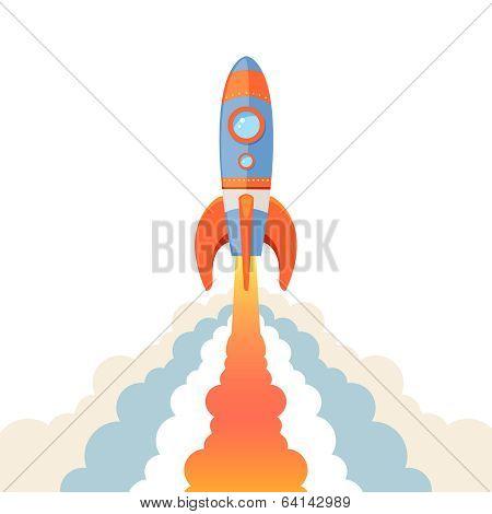 Rocket emblem isolated