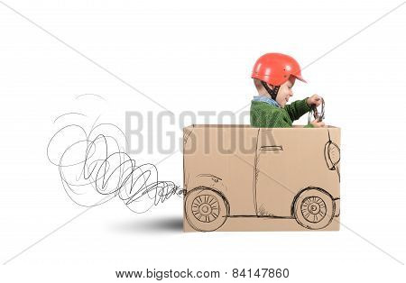 Cardboard auto