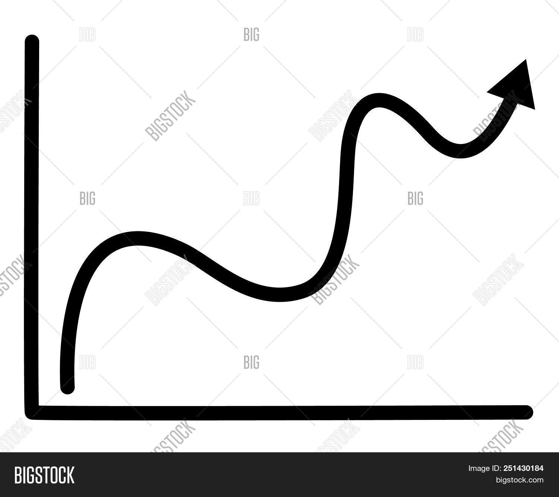 🔥 Progress Graph Icon On White Background  Flat Type
