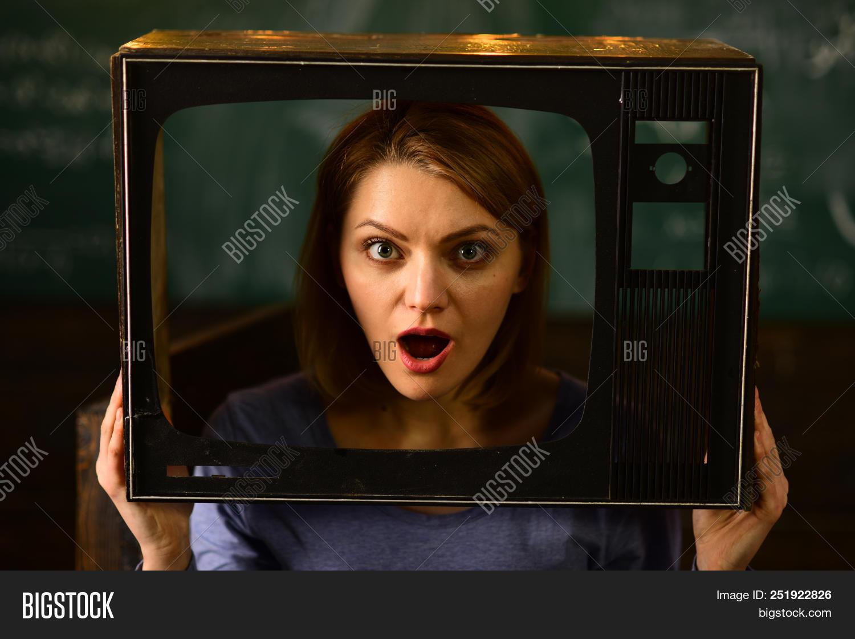Shocking News. Woman Journalist Reporting Shocking News. Shocking News On Tv. Shocking News Of The D