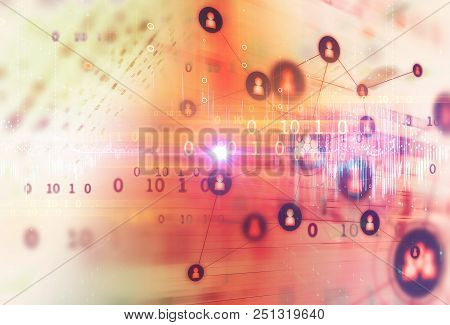 science formula and math equation abstract background. concept of machine learning and artificial 