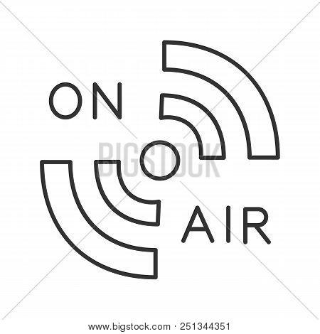 Radio Signal Linear Icon Thin Line Illustration On Air Hotspot
