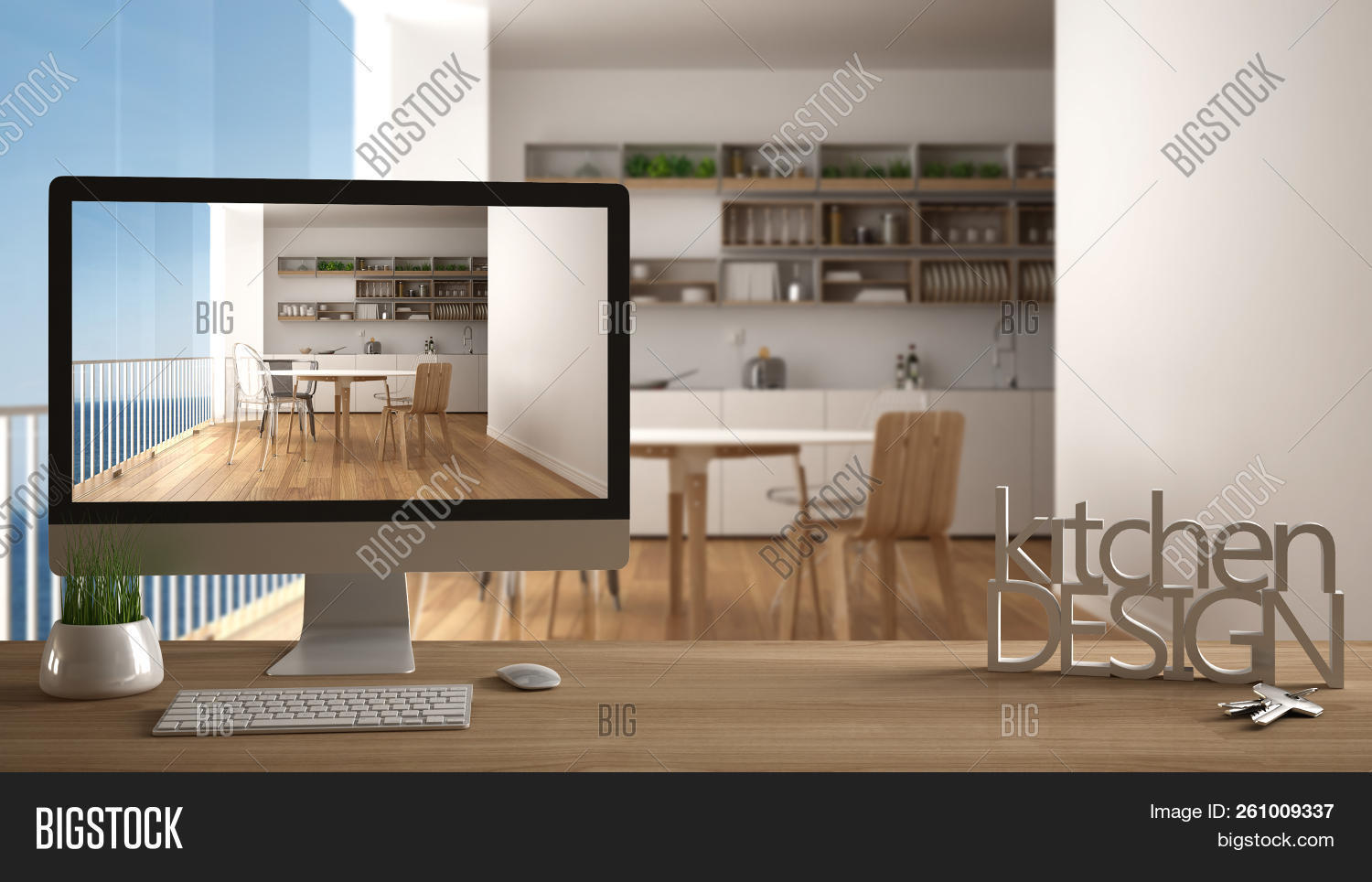 Architect Designer Project Concept Wooden Table With House Keys 3d Letters Making The Words Kitche 261009337 Image Stock Photo