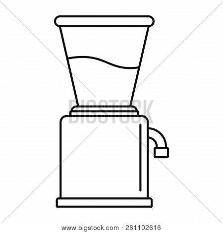 Modern coffee grinder icon. Outline modern coffee grinder vector icon for web design isolated on white background stock photo