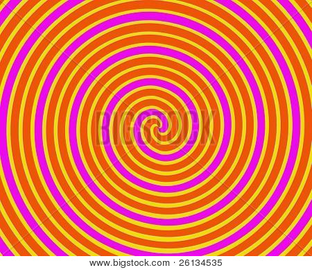 Dizzying spiralling lines in orange and yellow stock photo