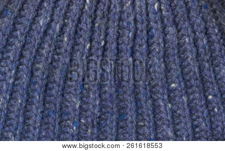 Knitted Blue Background Knitted Texture A Sample Of Knitting