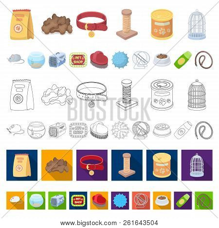 Pet shop cartoon icons in set collection for design.The goods for animals vector symbol stock web illustration. stock photo