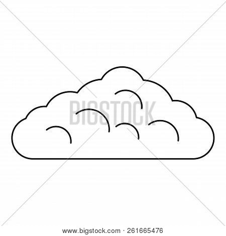 Wet cloud icon. Outline illustration of wet cloud icon for web stock photo