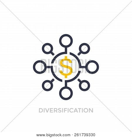 Financial diversification, diversified investment icon, eps 10 file, easy to edit stock photo