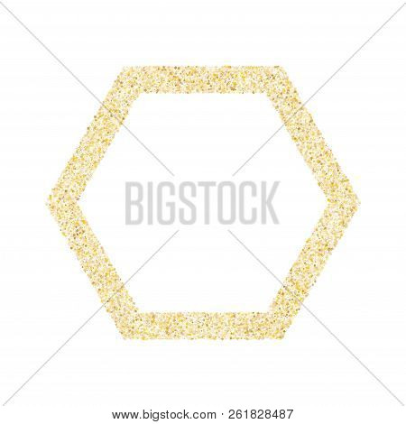 Gold sparkles glitter dust metallic confetti vector background. Rich golden sparkling background. Gold stardust texture tinsel confetti party vector. Fashion glitter festive sparkles design stock photo