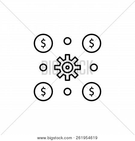 Financial operations, money, invest, income, risk icon. Element of money diversification illustration. Signs and symbols icon for websites, web design, mobile app stock photo