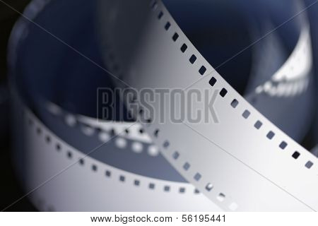35 mm unprocessed perforated film for cinematography stock photo