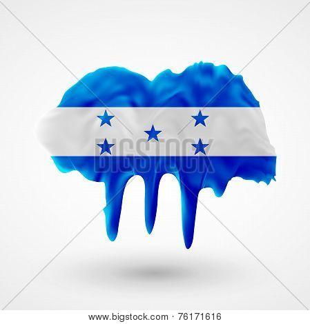 Flag of Honduras painted colors