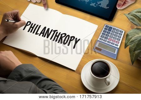 Hope Care Donate Altruism Philanthropy Charity Donations Help Support Giving Community stock photo