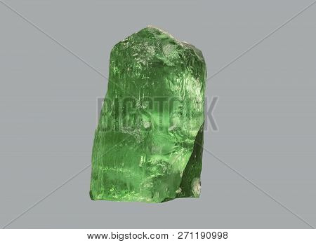 Crystal stone beryl on an isolated background stock photo