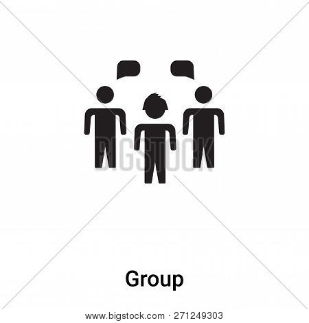 Group icon in trendy design style. Group icon isolated on white background. Group vector icon simple and modern flat symbol for web site, mobile, logo, app, UI. Group icon vector illustration, EPS10. stock photo
