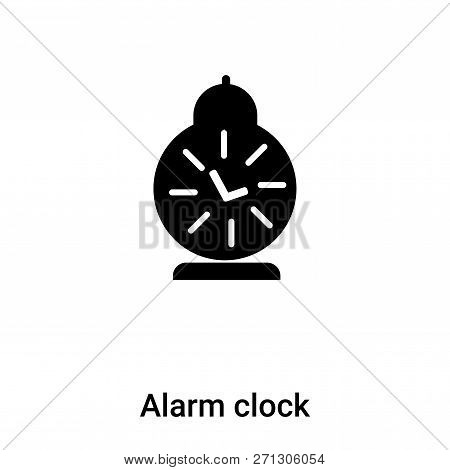 Alarm clock icon in trendy design style. Alarm clock icon isolated on white background. Alarm clock vector icon simple and modern flat symbol for web site, mobile, logo, app, UI. Alarm clock icon vector illustration, EPS10. stock photo