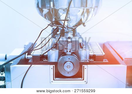 plant picture, manufacture, steel chrome machines, electronics stock photo