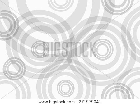 Rectangular light background with round uneven elements. Simple vector illustration. stock photo
