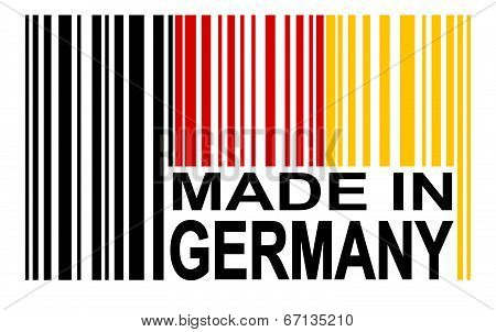 Bar code with Made In Germany isolated stock photo