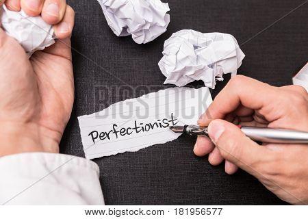 Perfectionist stock photo