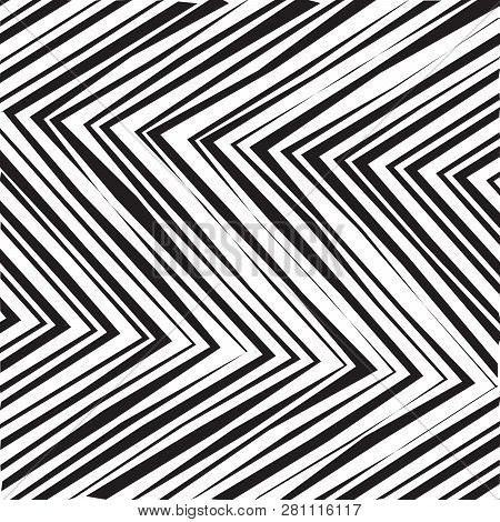 Abstract Vector Background of Waves, Line Stripes Irregular Wave Background, Abstract Minimal Design, Stylized Flowing Water 3d Illusion, Graphic Line Art stock photo