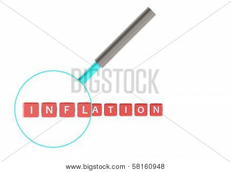 Inflation image with hi-res rendered artwork that could be used for any graphic design. stock photo