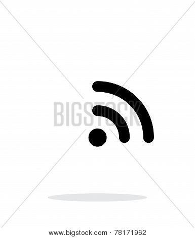 Radio signal Wi-Fi icon on white background. Wireless technology. Vector illustration. stock photo