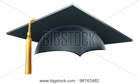 An illustration of a Graduation or convocation mortar board hat or cap stock photo