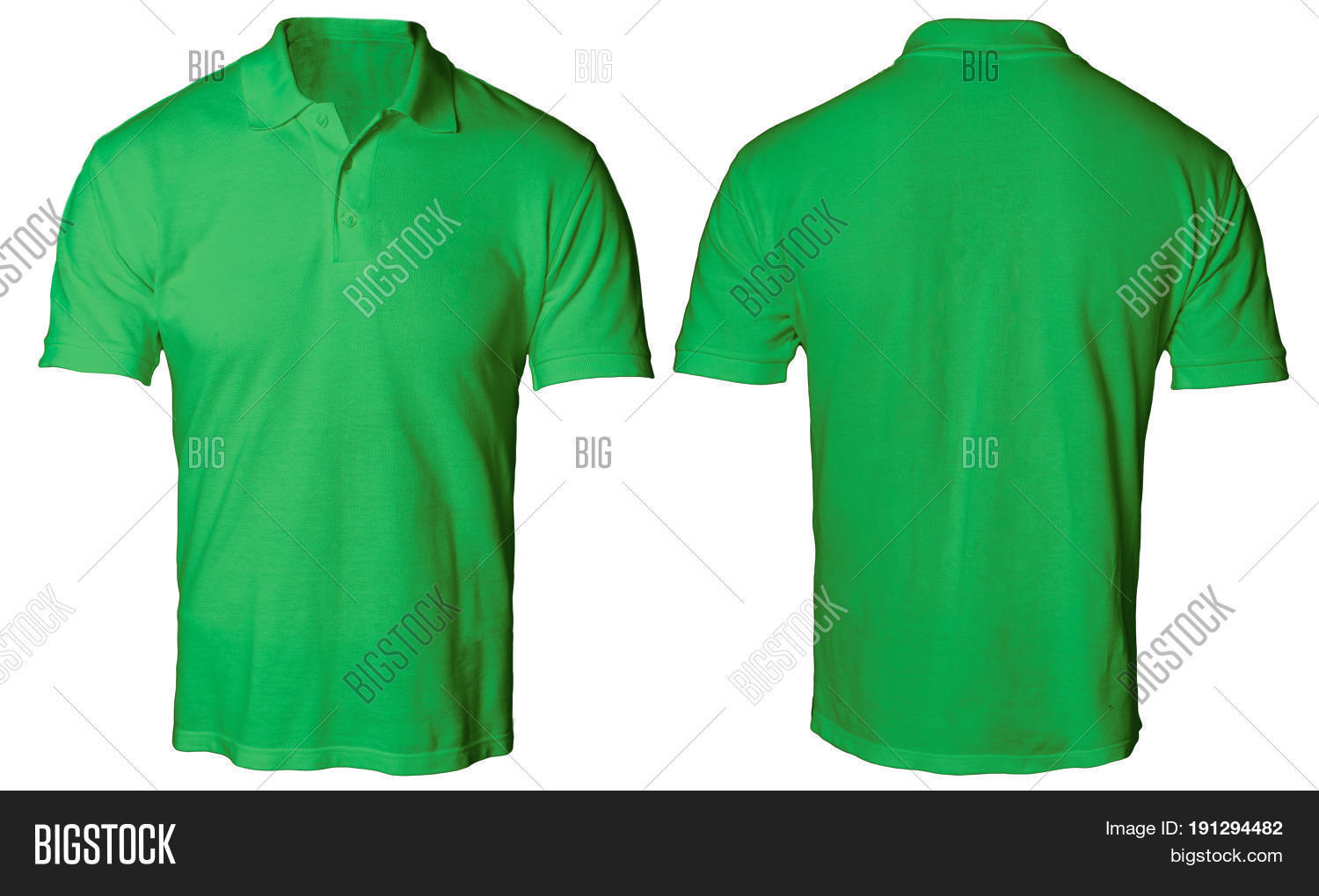 Blank Polo Shirt Mock Up Template Front