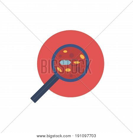 Vector illustration with cartoon flat nanorobots in blood concept. Vector logo or background for medicine of future. Science futuristic technology. Medical flat blood icon. Nanomedicine concept stock photo