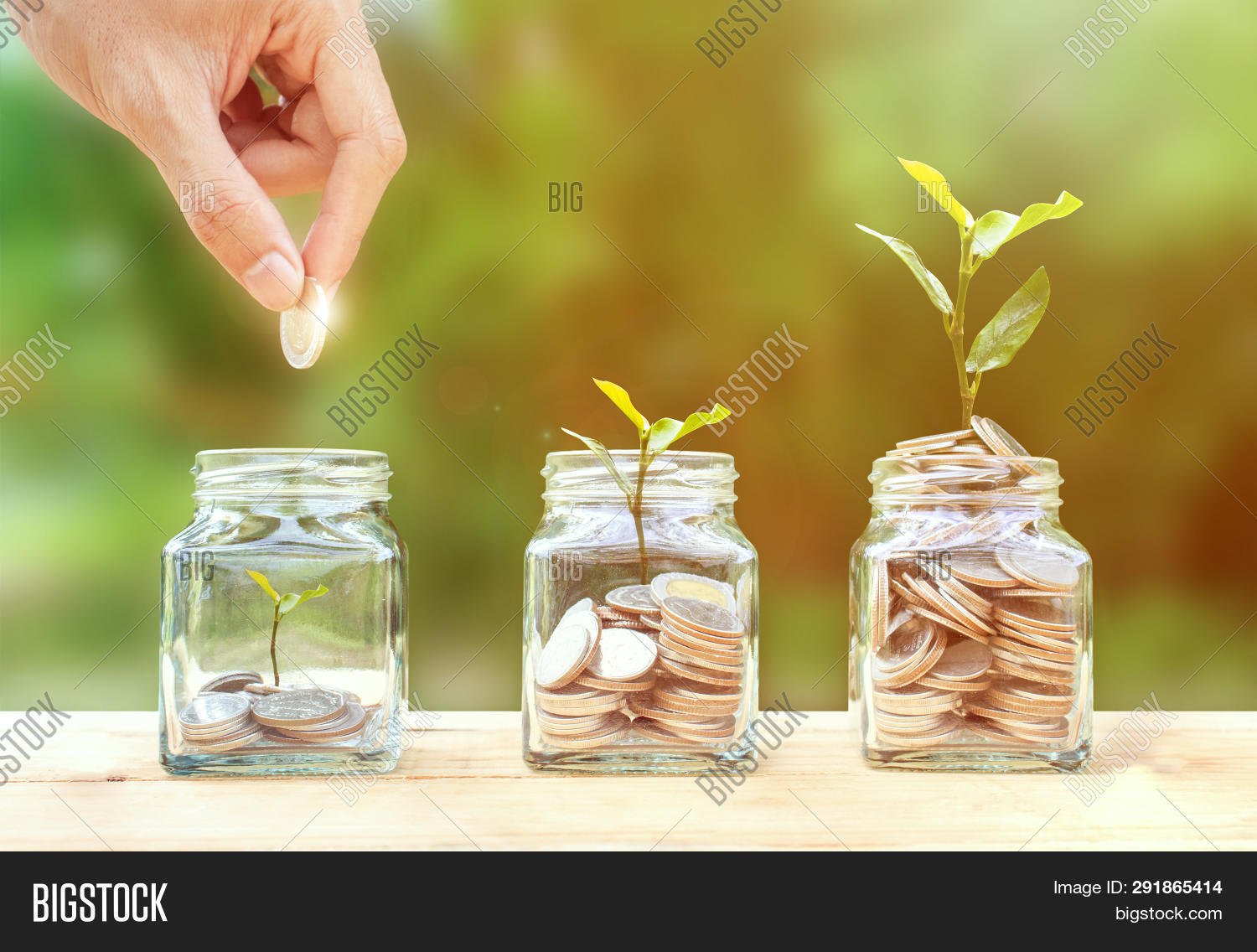 Money Savings, Investment, Making Money For Future, Financial Wealth Management Concept. A Man Hand