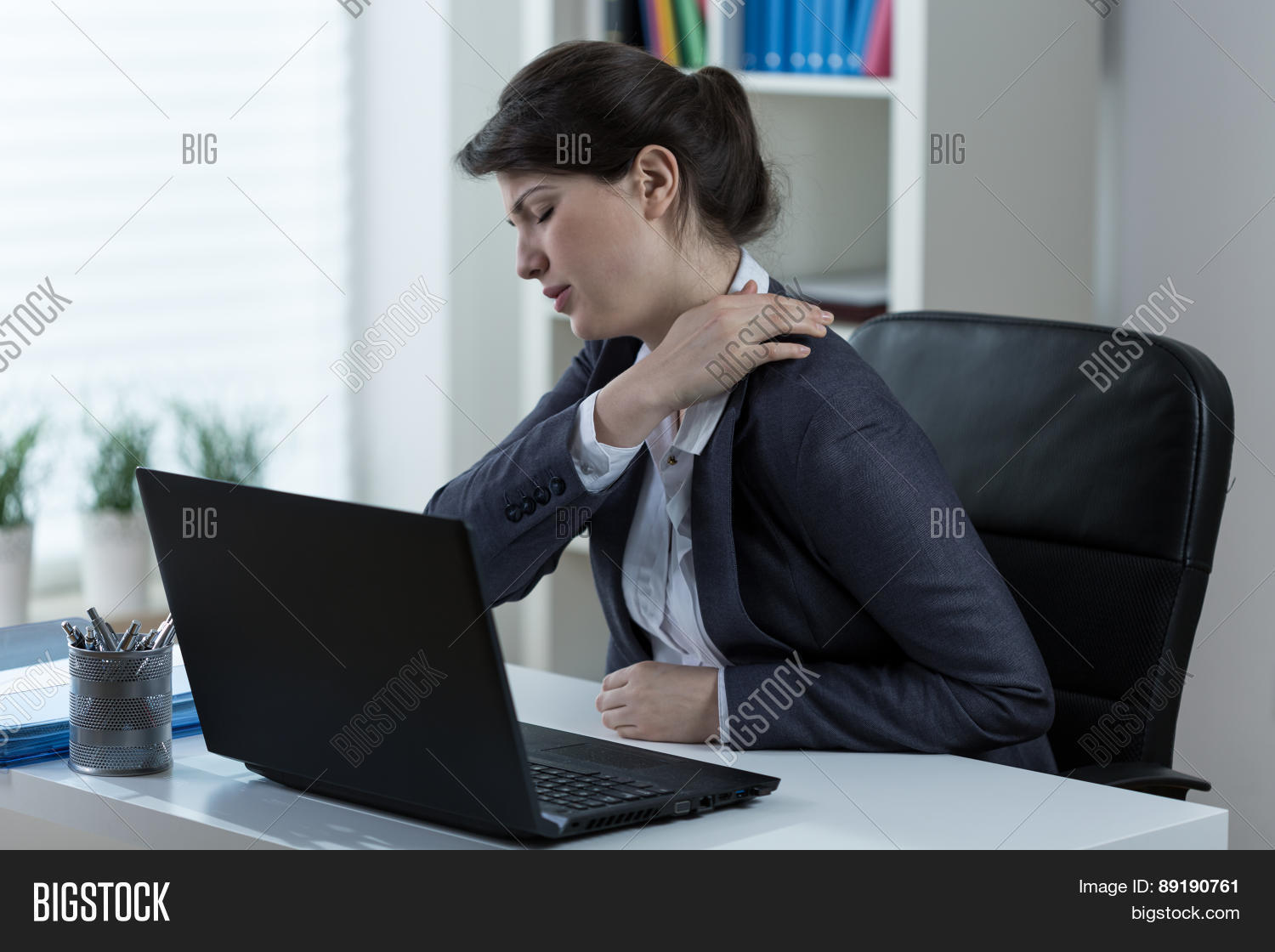 arthritis,back,backache,back pain,business,businesswoman,cervical,chronic,chronic pain,computer,contemporary,corporation,desk,disease,disorder,employee,female,job,laptop,lifestyle,manager,massaging,muscles,neck,occupation,occupational,office,overwork,pain,painful,pain management,problem,sedentary,shoulder,shoulder pain,sitting,spine,strain,stress,stressed woman,stress management,suffer,table,tense,tension,touch,uncomfortable,white-collar,woman,woman back,work,worker,workplace