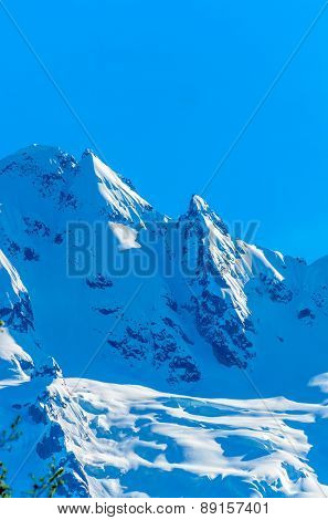 Fragment of Mountain View in Vancouver, Canada. stock photo