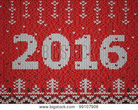 Christmas jumper fragment with 2016 New Year. Qualitative vector illustration for new year's day christmas winter holiday new year's eve silvester etc. It has transparency blending modes gradients stock photo