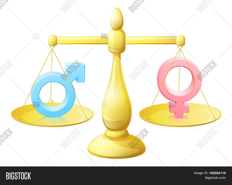 Man Woman Symbol Scales Photo Stock