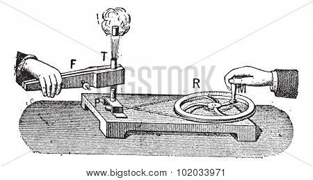 Thermodynamic, vintage engraved illustration. Dictionary of words and things - Larive and Fleury - 1895. stock photo