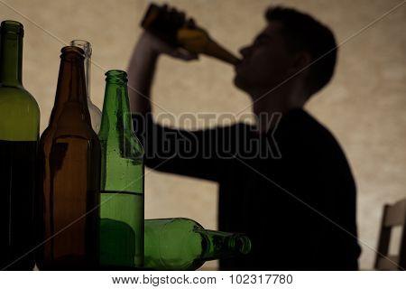 Teenager Drinking Beer