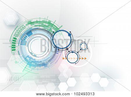 Vector illustration Hi-tech digital technology engineering.